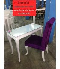 โต๊ะเพ้นท์เล็บสีขาวสไตล์วินเทจ โต๊ะทำงานราคาถูก สินค้าราคาถูกจากโรงงาน