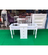 โต๊ะเพ้นท์เล็บสีขาว สินค้าจัดรายการราคา 5900 จากราคา8900 ราคาถูกจากโรงงานผลิตเอง