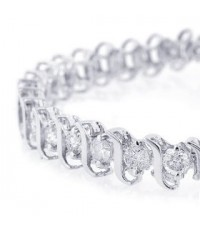 Buy Cheap 5 cttw. Diamond Tennis Bracelet, 14K White