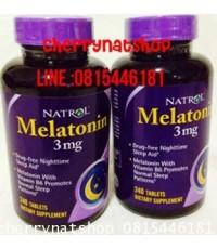 วิตามินช่วยให้หลับง่ายขึ้น แก้โรคนอนไม่หลับNatrol Melatonin3mg 240เม็ดผสมViTt B6+แคลเซียม เจกินได้ค่