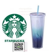 Starbucks Ocean Blue Gradient cold cup tumbler (24oz) Overseas Limitedแก้วเย็น By Cherrynatshop
