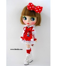 "ชุดตุ๊กตา 12""  BHC-FN349 Cutie Kitty Dress Set"