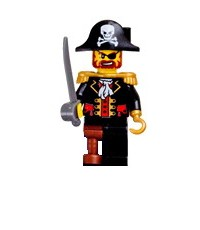 Lego Pirates Figure Captain Pirate