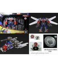 TRANSFORMERS 3 Takara DA-10 Jet Wing OPTIMUS PRIME with Exclusive coin