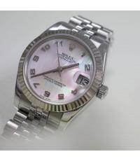 Rolex Boy Size 178274 Date Just หน้ามุกชมพูเลขอารบิก