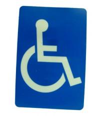 ตัวแผ่นป้ายพลาสติก สัญลักษณ์ห้องน้ำคนพิการ