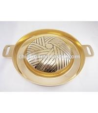 กะทะบาร์บีคิว BBQ ทองเหลือง ขนาดเส้นผ่านศูนย์กลาง 27 ซม.
