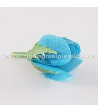 ดอกกุหลาบตูม ดอกสั้น สีฟ้า