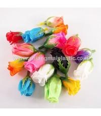 ดอกกุหลาบตูม เนื้อผ้า (รวมแบบสี)