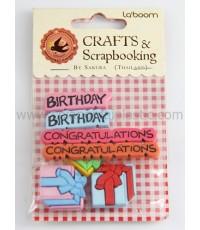 ชุดของตกแต่ง Laboom  คลิปหนีบ birthday,congratulation