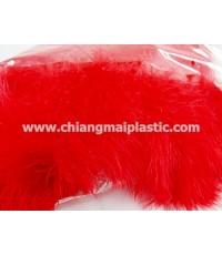 ขนนกแผงชนิดฟู ความยาว 14 ซม. สีแดง