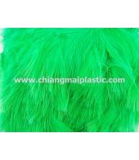 ขนนกแผงชนิดฟู ความยาว 14 ซม. สีเขียว