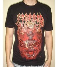 เสื้อทัวร์เดธ เมทัล Morbid Angel 2008 Tour Tee size M ของใหม่ สกรีนหน้าหลังเต็มๆ