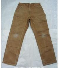 กางเกงผ้าใบ 3 ตะเข็บ Vintage 80s Carhartt Doble Knee Carpenter Pant 32x32 Dungaree Fit