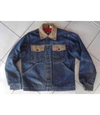 เสื้อกันหนาวยีนส์ Vintage Late 60\'s Big Smith Jeans Jacket size M USA Scovill Snap ป้าย ACWA Labels
