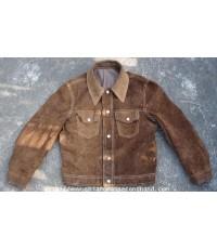 เสื้อหนังแท้วินเทจ Vintage Sears Roebuck The Leather Shop Reversible Jacket size M ใส่ได้สองด้าน
