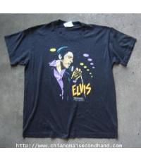 เสื้อยืดวินเทจ Vintage Elvis Presley 1986 50/50 T-Shirt Sz.L by Speed Limit 70 Harley-Davidson