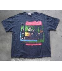 เสื้อทัวร์วินเทจผ้าฝ้ายบาง Vintage Led Zappelin 1969-1979 Tour T-Shirt Sz. XL Hanes สกรีน 2 หน้า