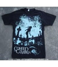 เสื้อวง Coheed and Cambria Graveyard 2009 Official T-Shirt Sz.M ลายสวย Progressive, rock punk,metal
