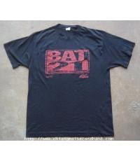 เสื้อยืดผ้า 50 บางรุ่นเก่า 80s Vintage T- BAT 21 Sz.L T-Shirt 1988 Made in U.S.A. Ched by Envil