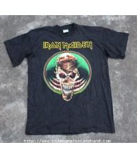 เสื้อทัวร์ผ้าฝ้ายบางรุ่นเก่า Vintage Iron Maiden 1992 Tour T-Shirt Sz.XL สกรีน2หน้า Deadstock!