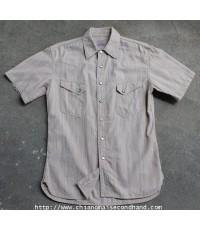 เสื้อเชิ้ตคาวบอยกระดุมเหลี่ยม The Flat Head 7004HW Western Shirt Sz.L Gusset ชายต่อ ริม Gripper