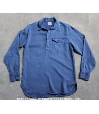 เสื้อเชิ้ต Denime Half Pullover Shirt Sz.L 1 Pocket Japan