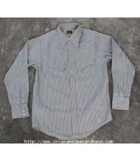 เสื้อเชิ้ตกระดุมมุกยกขอบ Cushman Western Shirt Pearl Snap Sportswear LOT 25972 Sz.L
