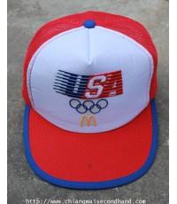 หมวกแก๊ปยุค 80s VINTAGE McDONALDS 1984 OLYMPICS SNAPBACK TRUCKER CAP HAT ใหม่กริ๊บ