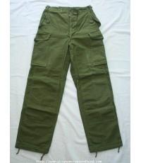 กางเกงทหาร Vintage 1967 Canadian Trousers, Mens, Combat G.S.(Modified) Quarpel Sz.7/32x31 Lightning