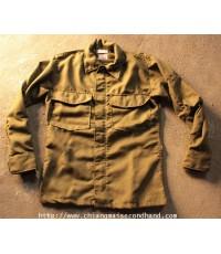 เสื้อ Vintage 1971 Shirt Flyers Hot Weather Fire Resistant Jacket Sz.S/X-Small Short  Gripper