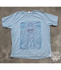 เสื้อวงผ้า 50/50 รุ่นใหม่ THE JIMI HENDRIX EXPERIENCE  AXIS:BOLD AS LOVE Blue T-Shirt Sz. XL
