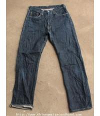 กางเกงยีนส์ผ้าด้านริมแดงกระดุม John Bull Selvedge Jeans Denim Pant 31x30 Japan ผ้าขึ้นขน