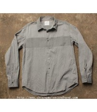 เสื้อเชิ้ตพิมพ์ลาย BOYCOTT Stripe Shirt Sz.M/3 Made in Japan A Tale Never Loses in The Telling