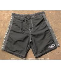 กางเกงผ้าร่มขาสั้นสีดำ O.S.T. Surf Retailer Board Short Pant 32x8.5 Made in USA ใหม่มาก