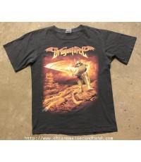 เสื้อทัวร์วง DragonForce Flames Arms Tour T-Shirt Anvil Tag Sz.M สกรีนหน้าหลังสวยจัด