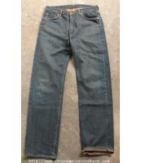 กางเกงยีนส์ผ้าด้านสีสนิมริมแดง EDWIN 505XX Selvedge Indigo Denim Pant 34x34 Japan