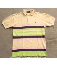 เสื้อโปโลลายขวางราล์ฟ เลอเรน Ralph Lauren RL Polo Shirt Sz.L ลายสวย