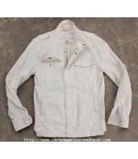 แจ๊คเก็ตทรงทหารลินินผสม UNIQLO Military Linen Blend Jacket z.M M-65 Style ใหม่กริ๊บ