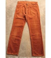 กางเกงยีนส์ลีวายส์ลูกฟูกกระบอกเล็ก 70s Vtg. Levi\'s 519 Corduroy Pants 33x29.5 White Tab Talon42