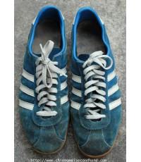 รองเท้าผ้าใบหนังกลับ 70s-80s Vintage Adidas KÖLN Sneakers Sz.US 9.5-10 City Series Made in Roumania