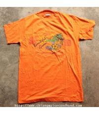 เสื้อยืดผ้าร้อยรุ่นเก่า Vtg. 80s Deadstock Beautiful Guam Hanes T-Shirt Sz.M U.S.A.