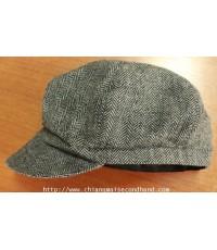 หมวกลีวายส์ทรงนิวส์บอยลายก้างปลา HBT Levis Newsboy Hat Sz.M/56 cm. สวยมากใหม่กริ๊บ