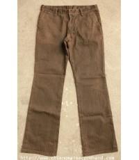 กางเกงขาม้าผ้าหนาลายทาง ABAHOUSE Stripe Pant 33x31.5 Made in Japan สวยมาก