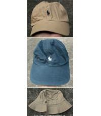 ขายเหมา 3 ใบ Polo Ralph Lauren Cap/Bucket Hat Free Sz.