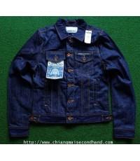 เสื้อแจ๊คเก็ตยีนส์ผ้าดิบ NWT SUPERDRY STANDARD BLUE JEAN JACKET RAW DENIM Sz. L ของใหม่ป้ายติด