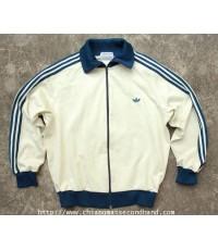 เสื้อวอร์มอดิดาส Retro Vtg. Adidas Track Warm Jacket Sz.M Made in Japan YKK Zipper Classic Logo