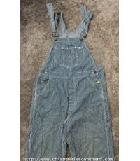 ชุดเอี๊ยม 3 ตะเข็บ Workwear Lee Hickory Stripe Bib Overalls 34x33 เดิมๆทั้งตัว