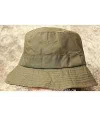 หมวกเคลือบแวกซ์ BARBOUR Sage Green Waxed BUCKET HAT Hunting Fishing A115 Sz.M  Made in England
