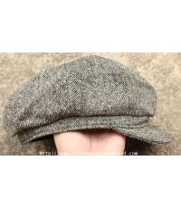 ขายแล้วครับ หมวกนิวส์บอยผ้าทวีด NEW YORK HAT Tweed Newsboy Sz.L/56.5-57 cm. made in USA ใหม่สวย